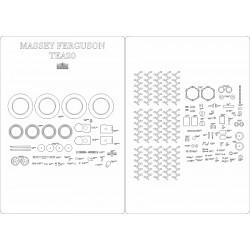 Massey Ferguson TEA20 - laser cut frames and details