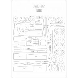 Jak-9P - laser cut frames and details