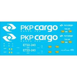 ET22 PKP CARGO - kalkomanie