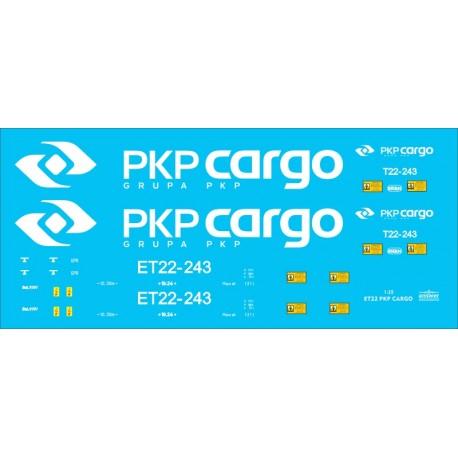 ET22 PKP CARGO - decals