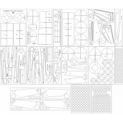 Boeing 747-400 Cargo DHL - laser cut frames and details