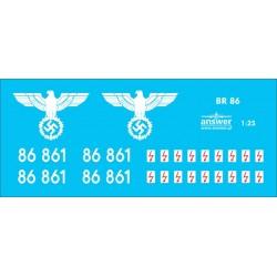 BR86 - decals