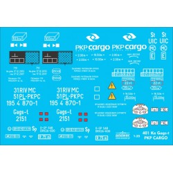 Wagon 401Ka Gags-t PKP Cargo - decals