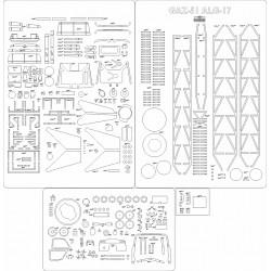 GAZ-51 ALG-17 - laser cut frames and details