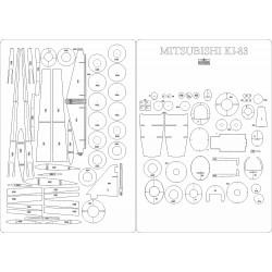 Mitsubishi Ki-83 - laser cut frames and details