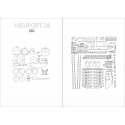 Nieuport 28 - laser cut frames and details