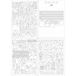 DT-75 - laser cut frames and details