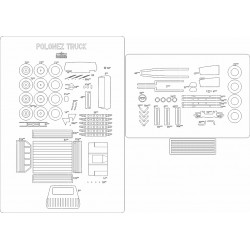 Polonez Truck - laser cut frames and details