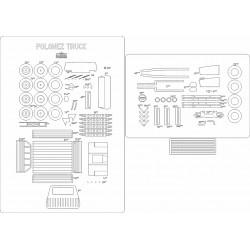 Polonez Truck - szkielet, detale, bieżniki