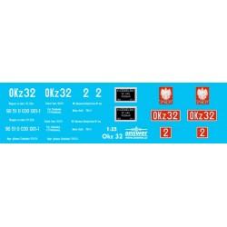 OKz32 - decals 1/25
