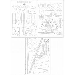 Su-37 - laser cut frames and details