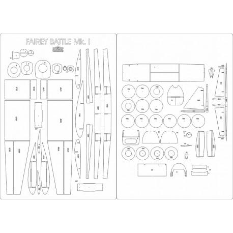 Fairey Battle Mk.I - laser cut frames and details