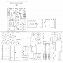 Ural 4320 Osiny - laser cut frames and details