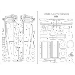 Vultee A-35 Vengeance - szkielet, detale