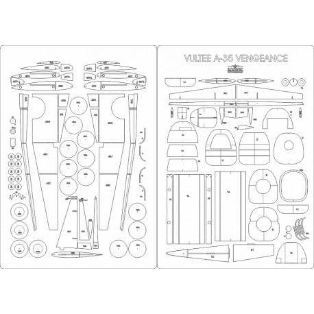 Vultee A-35 Vengeance - laser cut frames and details