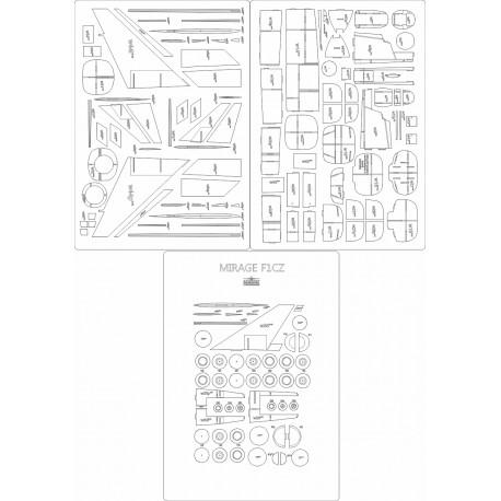 Mirage F1CZ- laser cut frames and details