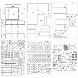 Flakpanzer IV Mobelwagen - laser cut frames and details