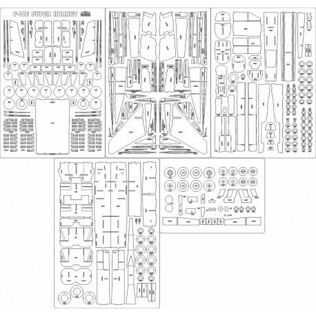 F-18E Super Hornet - laser cut frames and details