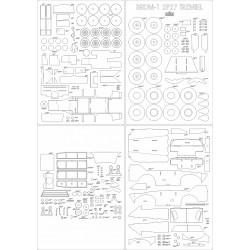 BRDM-1 2P27 Trzmiel - szkielet, detale