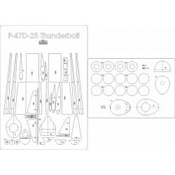 P-47D-23 Thunderbolt - laser cut frames and details