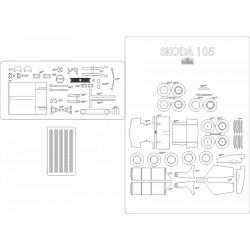 Skoda 105 - laser cut frames and details