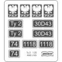 Ty2 - laser cut plates