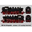 Locomotive BR86 Kriegslok - laser cut model