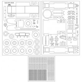 GAZ-2975 TIGR - szkielet, detale, bieżniki