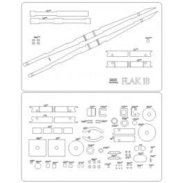 Flak 18 - elementy wycięte laserem