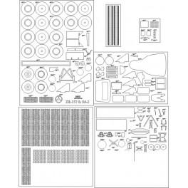 Ził-157 & SA-2 - elementy wycięte laserem