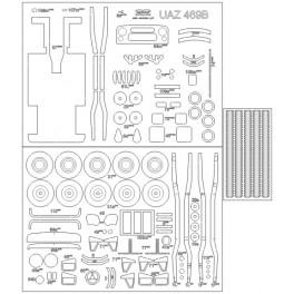 Henschel 33 D1 - elementy wycięte laserem