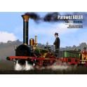 Parowóz ADLER + 2 wagony osobowe - model wycięty laserem