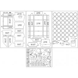 Su-100 - szkielet, detale, koła